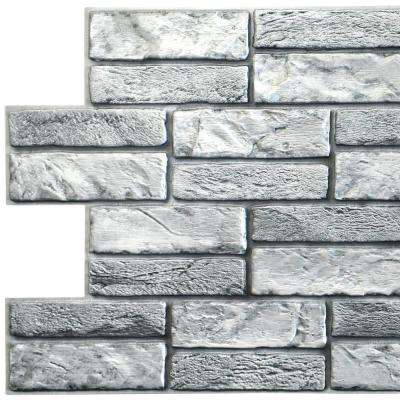 Dundee Deco 3d Falkirk Retro 10 1000 In X 38 In X 19 In Grey Faux Old Brick Pvc Wall Panel Tp10019926 The Home Depot In 2020 Brick Wall Paneling Pvc Wall Panels Wall Paneling