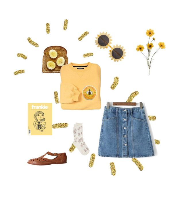 """""""yell-h"""" by clarissavasquez on Polyvore featuring H&M, Burt's Bees and Hue"""