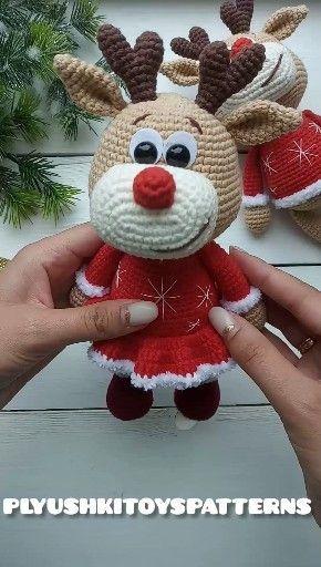 Photo of Cute little baby-girl deer crochet pattern – Amigurumi