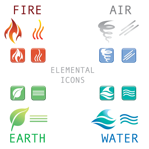 Vextorart Free Vector Earth Wind Fire And Water Four Elements