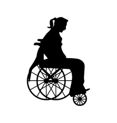 Man Or Woman In Wheelchair Silhouette Woman Silhouette Vector Free Free Vector Images