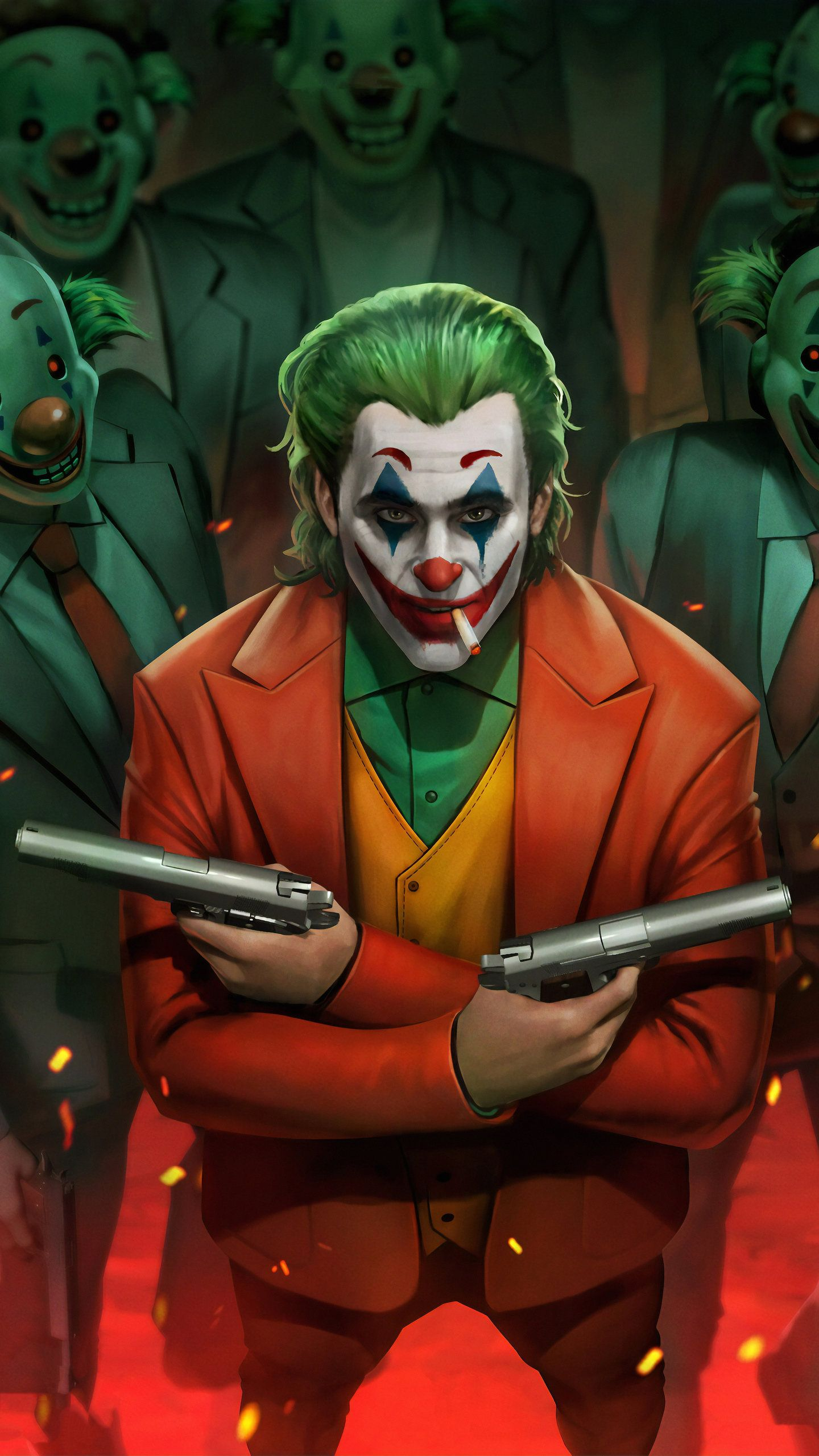Joker Movie Art 4k Hd Wallpaper 1440x2560 Seni Gelap Sejarah
