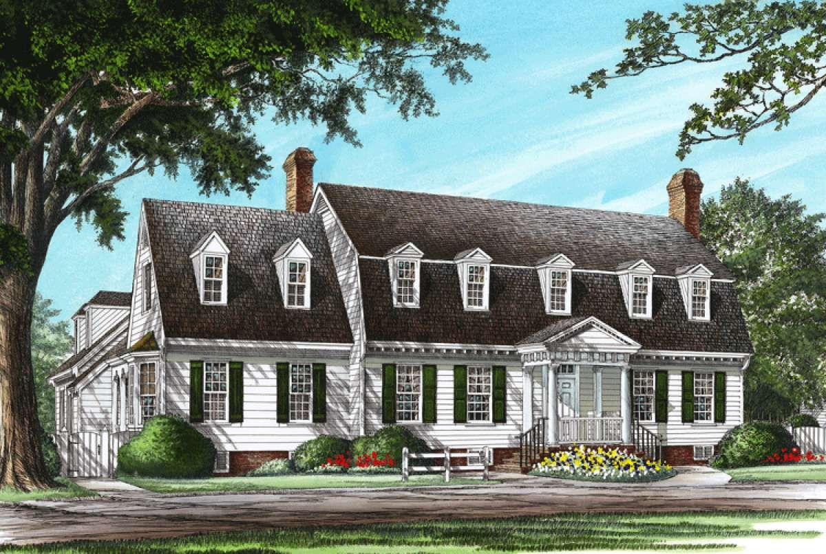 House Plan 7922 00137 Country Plan 3 423 Square Feet 4 Bedrooms 3 5 Bathrooms Colonial House Plans House Plans Cape Cod House Plans
