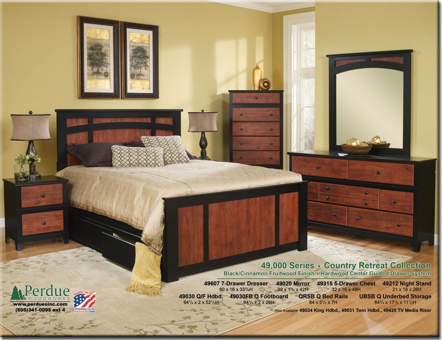 Perdue Woodworks 49000 Series Bedroom Sets Pinterest Small