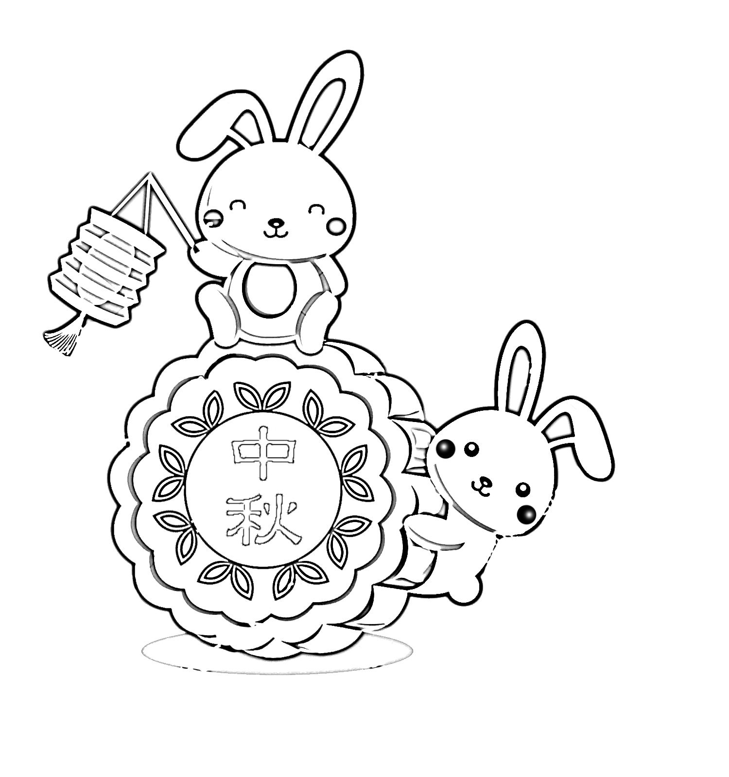 Mid Autumn Moon Festival Coloring Pages