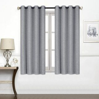 Porch Den Chalmers Total Black Out Curtain Panel 45 Inches