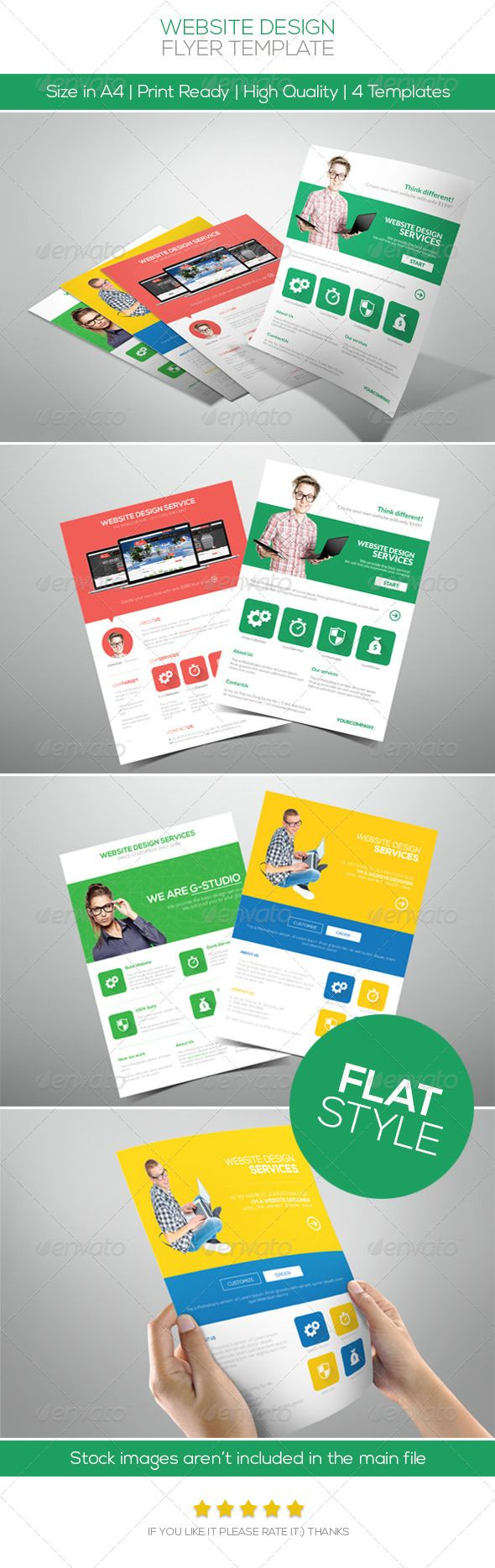 Flat Website Design Flyer