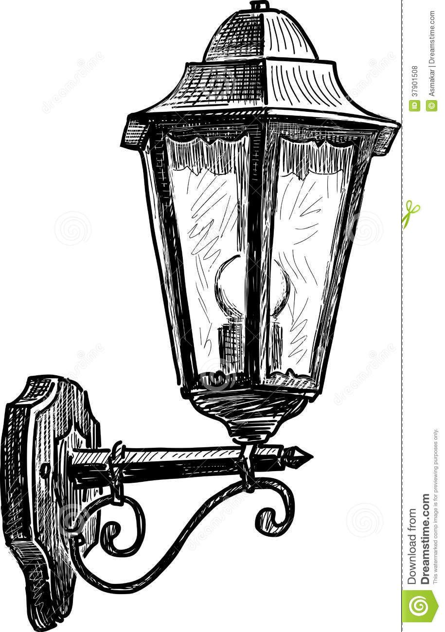 Related Image Street Lamp Vintage Drawing Lamp