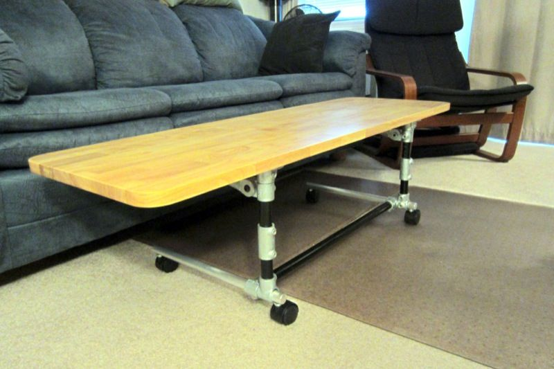 Adjule Height Desk Coffee Table Position
