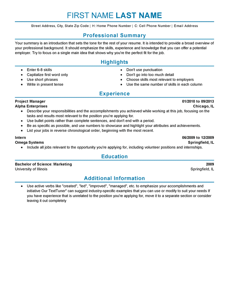 Live Career Resume Experienced Resume Templates To Impress Any Employer  Livecareer .