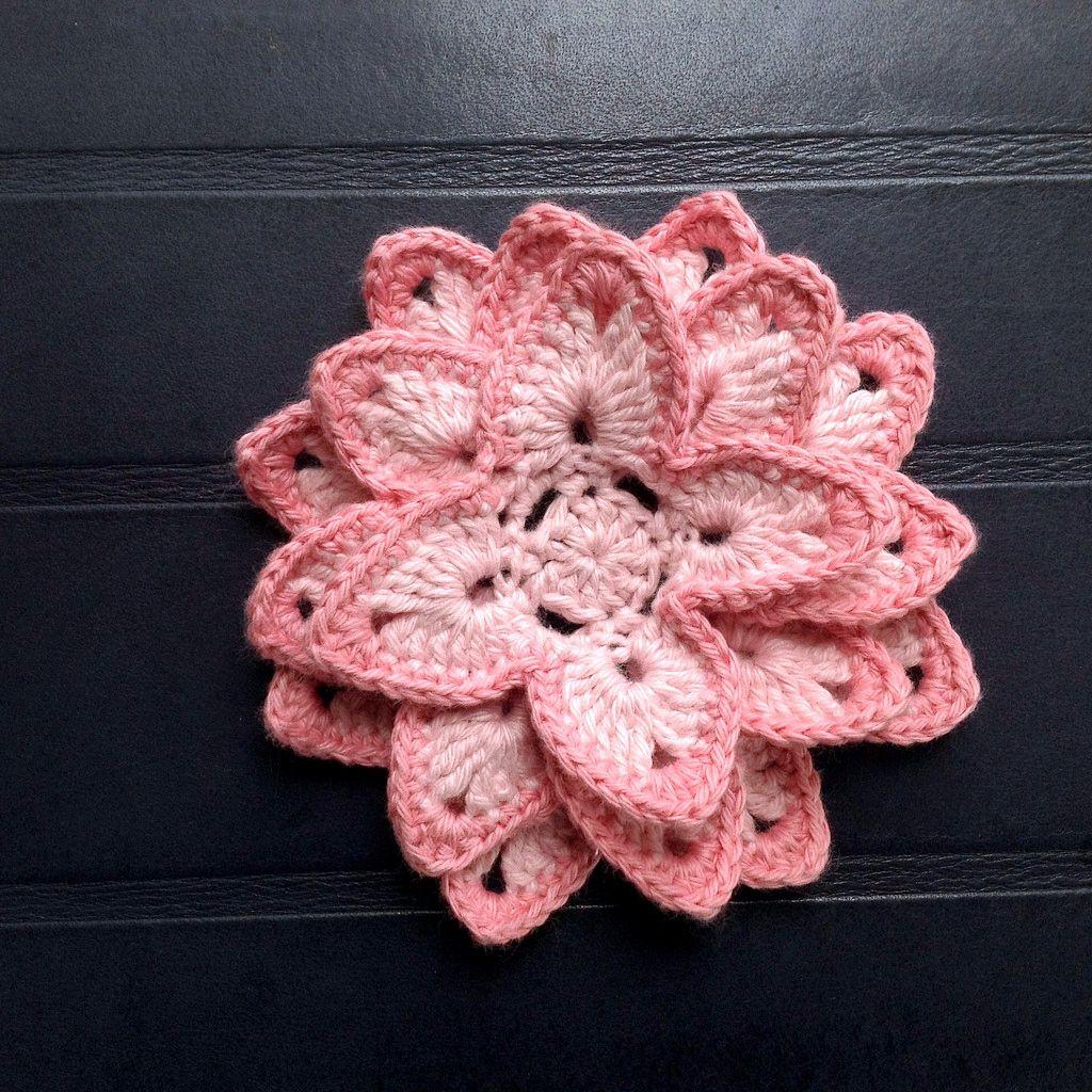 Suvi\'s Crochet: Lotus Flower | horgol | Pinterest | Lotus flower ...
