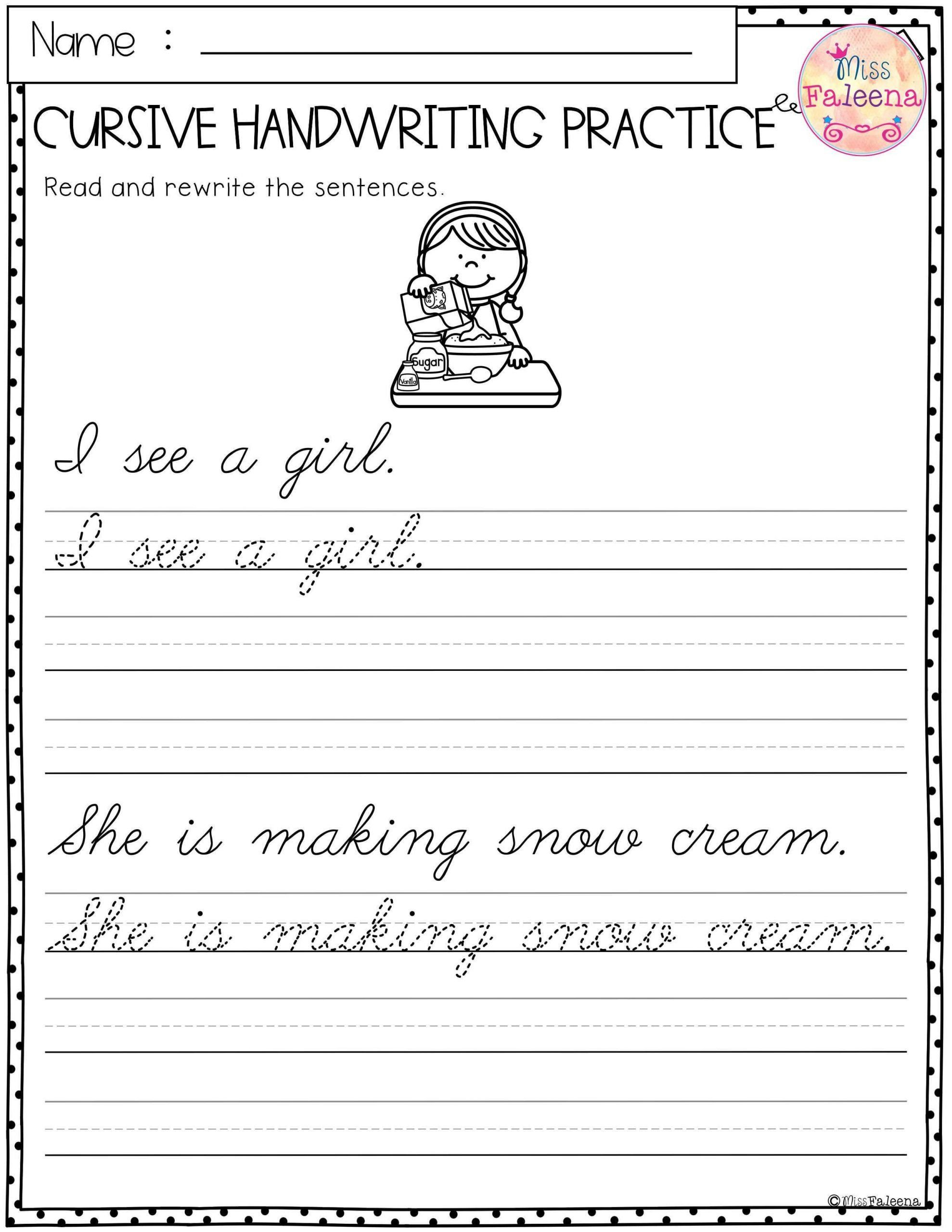Handwriting Cursive Writing Worksheets 4th Grade   Printable Worksheets and  Activities for Teachers [ 2560 x 1978 Pixel ]