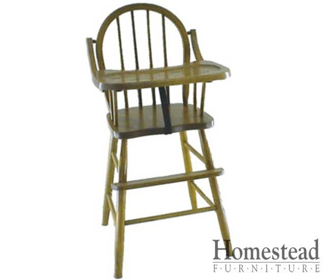 Spindle Back High Chair. http://www.homesteadfurnitureonline.com/youth-furniture_spindle-back-high-chair.html