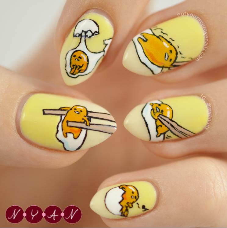 N.Y.A. Nails: Gudetama | Nails | Pinterest | Kawaii nails, Make up ...