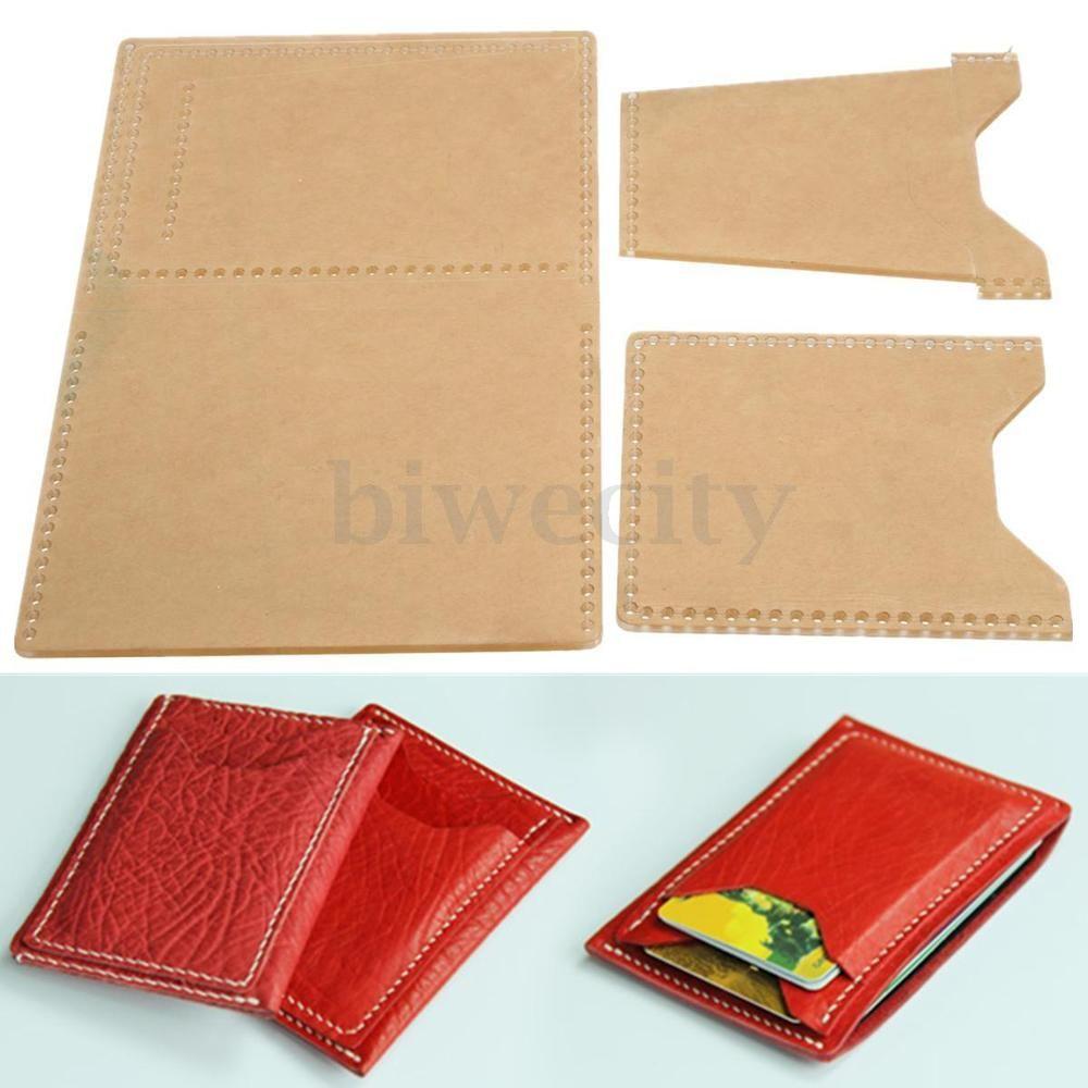 3pcs Plexiglass Template Leather Pattern Handcraft Tool For Diy Card Holder Leather Pattern Diy Wallet Pattern Card Wallet Pattern