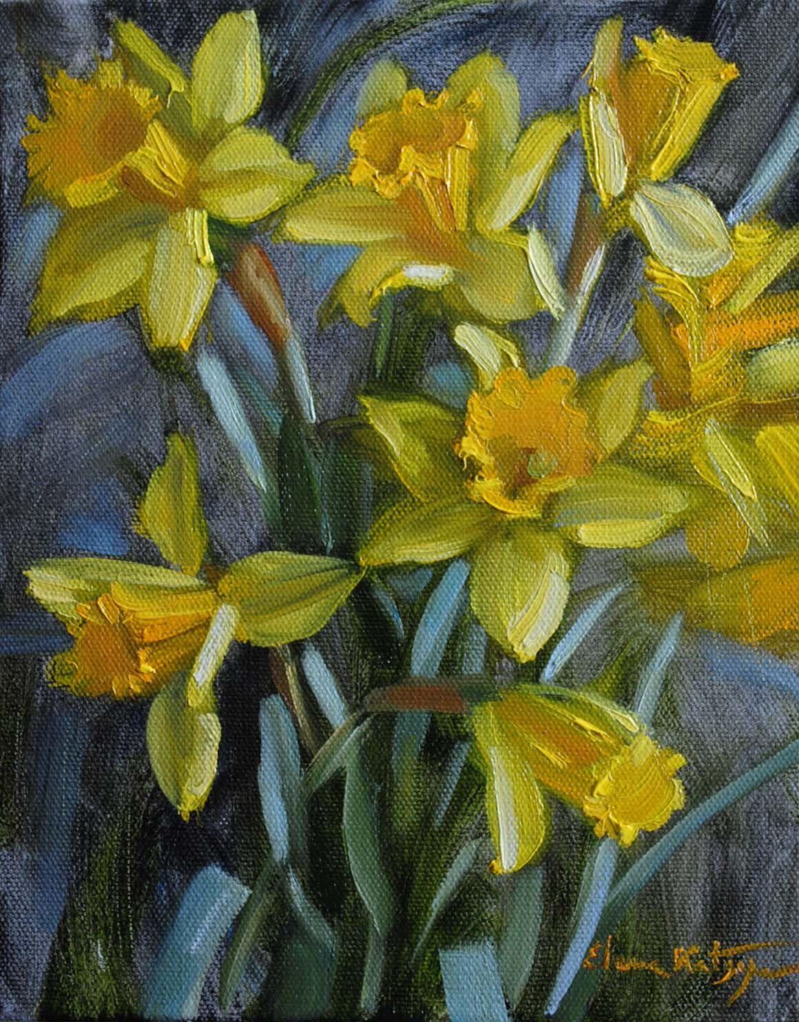 Spring In Winter Paintings By Elena Katsyura January 2013