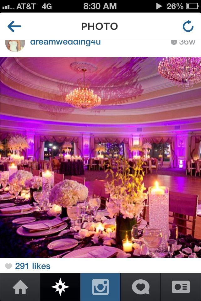 Love the feel of this room with spray flowers, candles floating, small arrangements, etc.