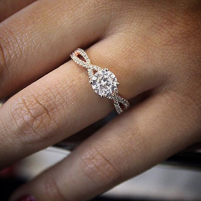 Rose Gold Engagement Ring By Gabriel New York