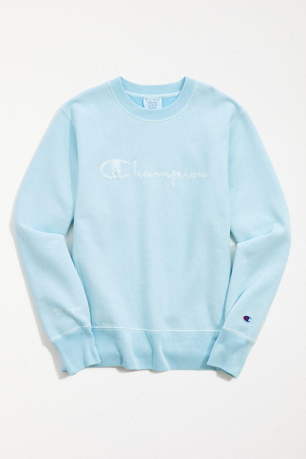 Champion Uo Exclusive Boyfriend Crew Neck Sweatshirt Urban Outfitters Sweatshirts Champion Clothing Crew Neck Sweatshirt [ 1463 x 976 Pixel ]