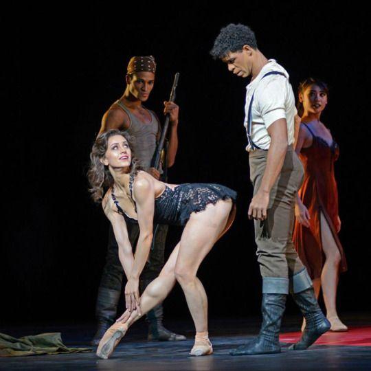 "Marianela Nunez and Carlos Acosta in his ""Carmen"".  © Dave Morgan, courtesy the Royal Opera House."