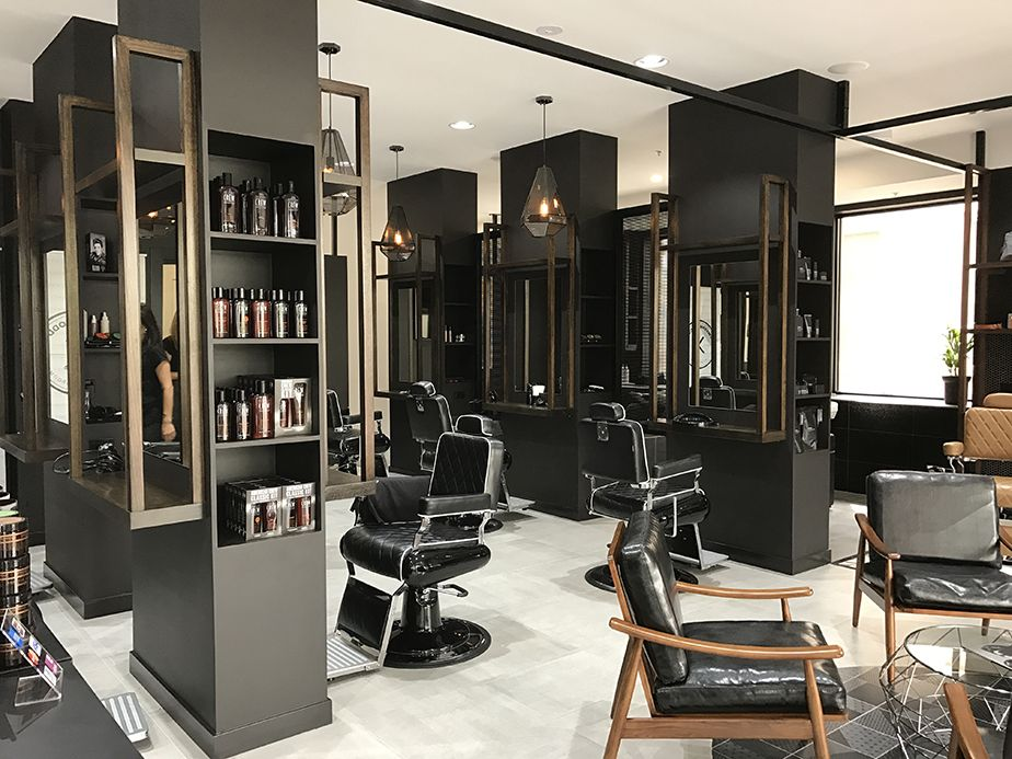 Barbershop design - Sweeny Todds - Comfortel Salon Furniture New Zealand