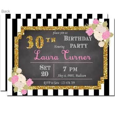 30 Th Birthday Invitations For Her