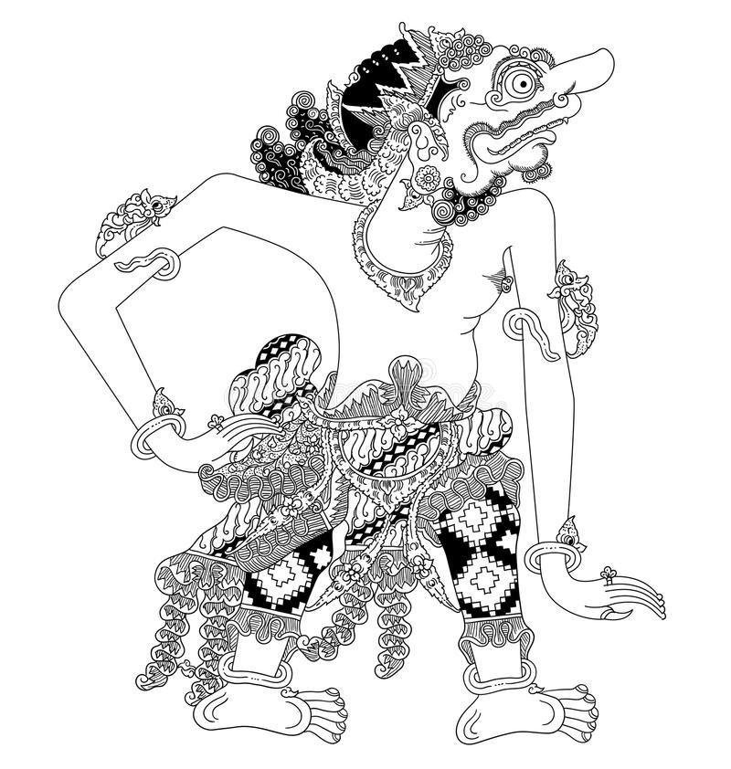 Durmagati A Character Of Traditional Puppet Show Wayang Kulit From Java Indonesia Stock Illustration Illustration Party Places Party Places For Kids