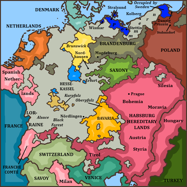 by the spring of 1635 there were no swedish forces to speak of in southern germany