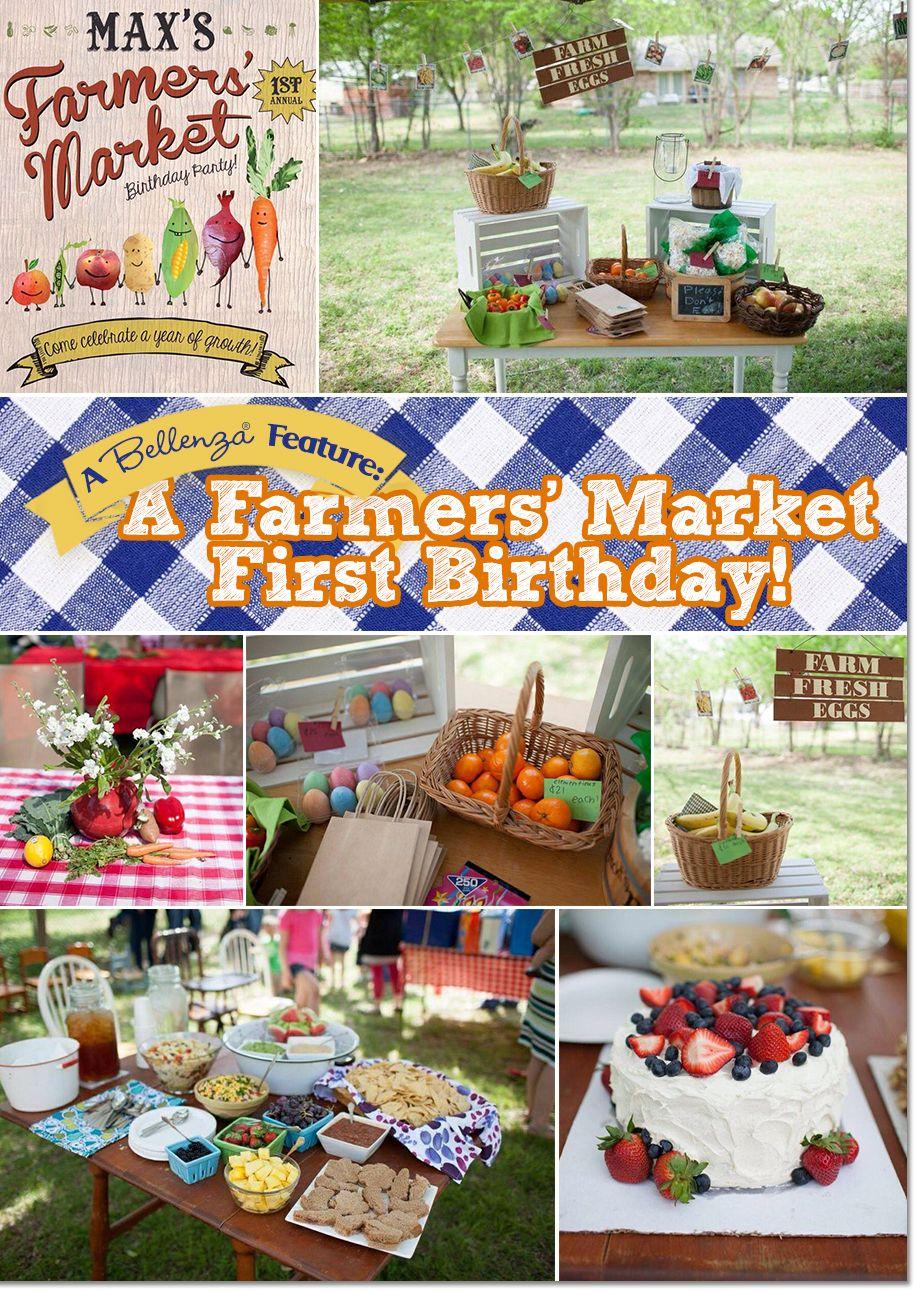 A Farmers' Market-themed First Birthday! | Themed birthday ...