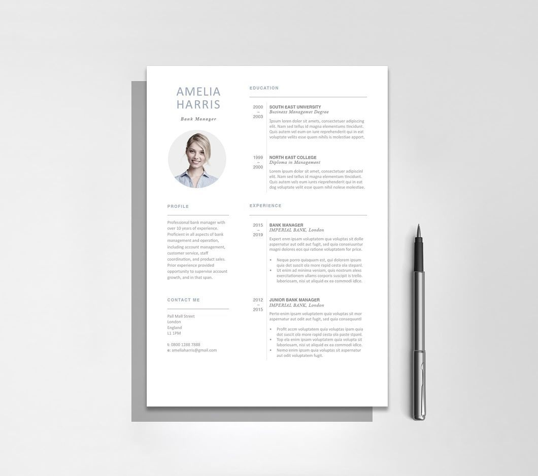 Microsoft word resume template modern resume template