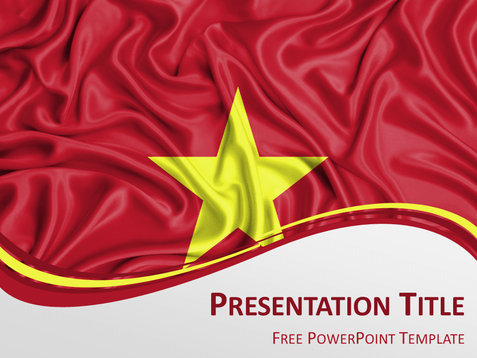 Free powerpoint template with flag of vietnam background free powerpoint template with flag of vietnam background toneelgroepblik Images