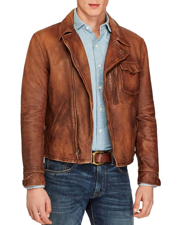 Polo Ralph Lauren Men\u0027s Leather Jacket - Brown S