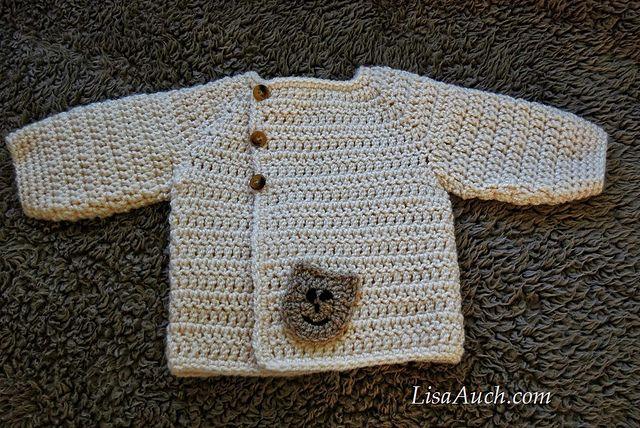 Craft Passions: Baby Bear Cardigan..# free #crochet pattern link ...
