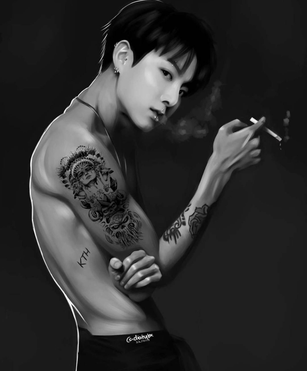 Pin By ოἶղ ʂօօ On Fan Art Bts Tattoos Bts Fanart Bts