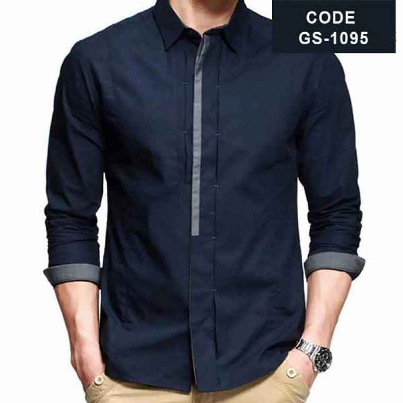 1bf5f14bc4e2bf Blue Designer Shirt with Grey Contrast in Pakistan.find latest pakistani designer  shirt for men with discount price with cash on delivery in Islamabad
