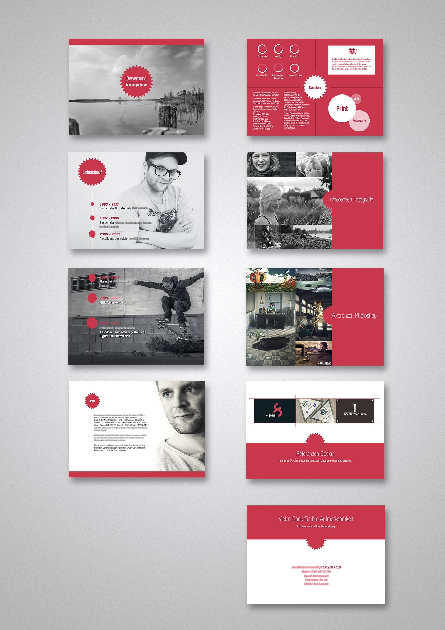 Resume / Bewerbung - Layout by blackconflict87.deviantart.com on ...