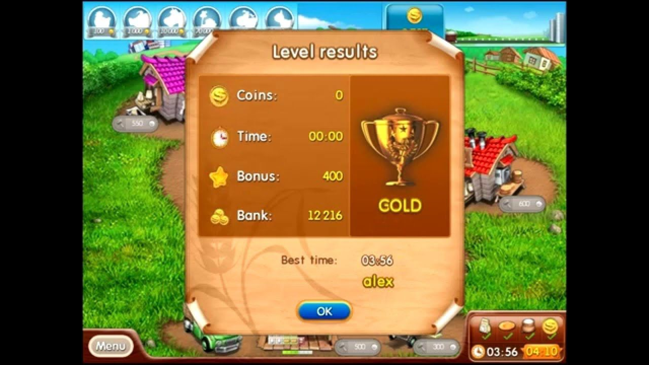 Farm frenzy 2 only GOLD (level 17) Bun lane 3 Веселая ...