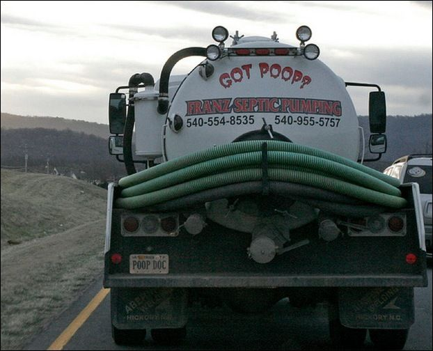 Septic Tank Truck Signs Utility Industry Humor Pinterest Humor - 22 hilarious truck signs spotted on the road