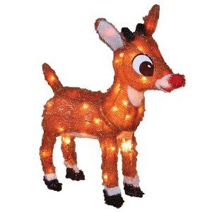 Rudolph The Red Nosed Reindeer Lighted Sculpture With