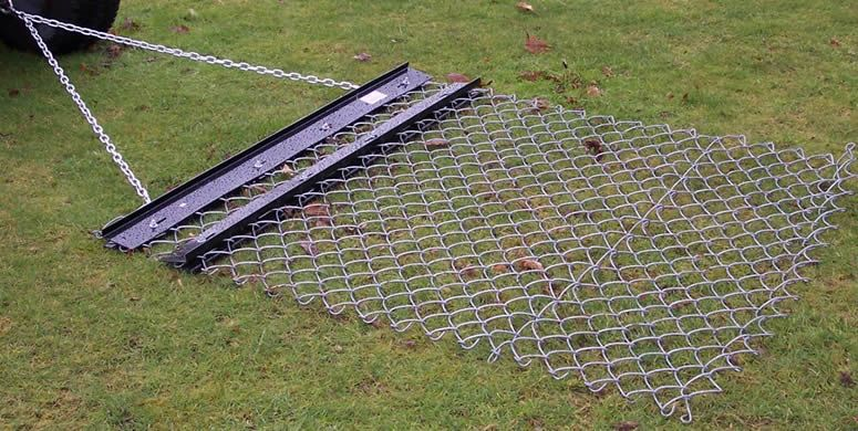 Chain Link Drag Mat Towed Behind A Small Tractor Diy Driveway
