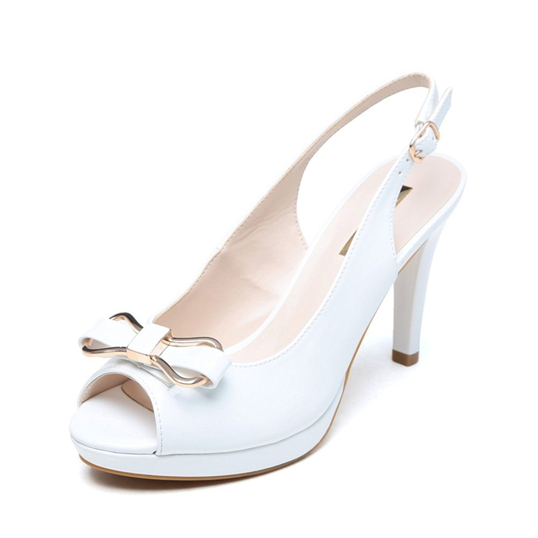 127e2f12570e summer Simple Bow Fish head sandals Fashion high-heeled sandals Glasses