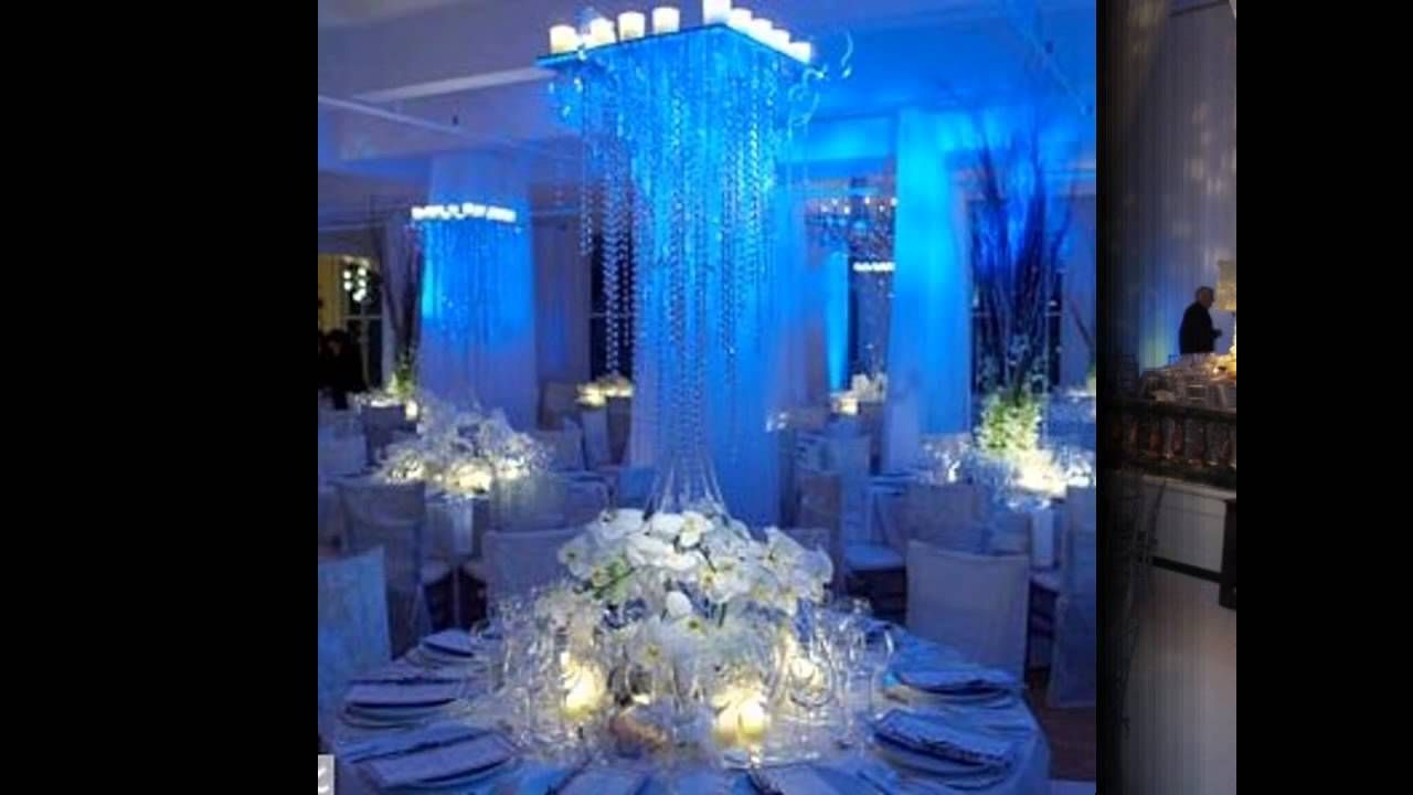 Wedding decorations tulle and lights  Beautiful Winter wonderland wedding ideas  YouTube  Wedding ideas