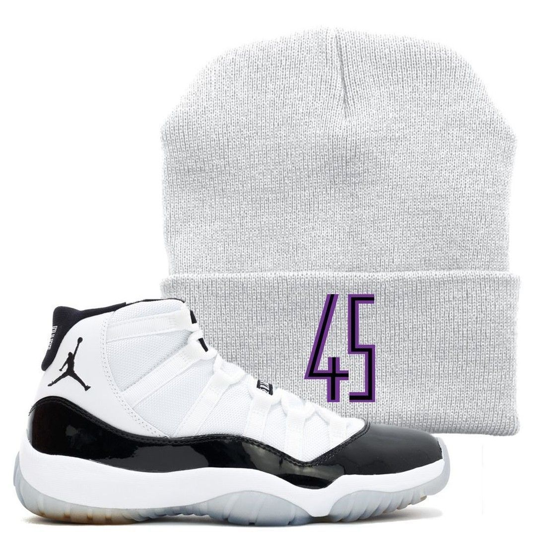 21607e97b237f8 Perfect your retro Jordan 11 Concord 45 sneaker matching outfit with this  custom designed sneaker matching