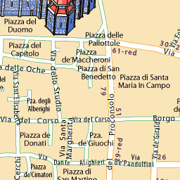 Mappa Firenze - ViaMichelin: Interactive map of Florence.