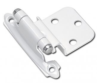 Amerock Bpr3428w 3 8 Inset Face Frame Mount Self Closing Cabinet Hinge Pair White Inset Hinges Amerock Hinges For Cabinets