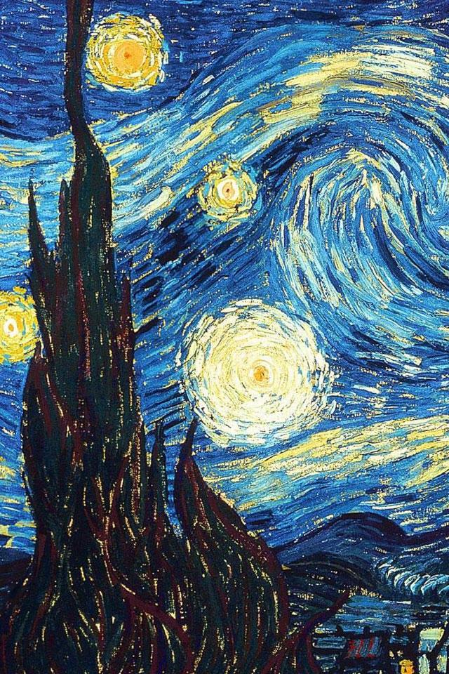 Van Gogh La Nuit étoilée Peintures De Van Gogh Papier
