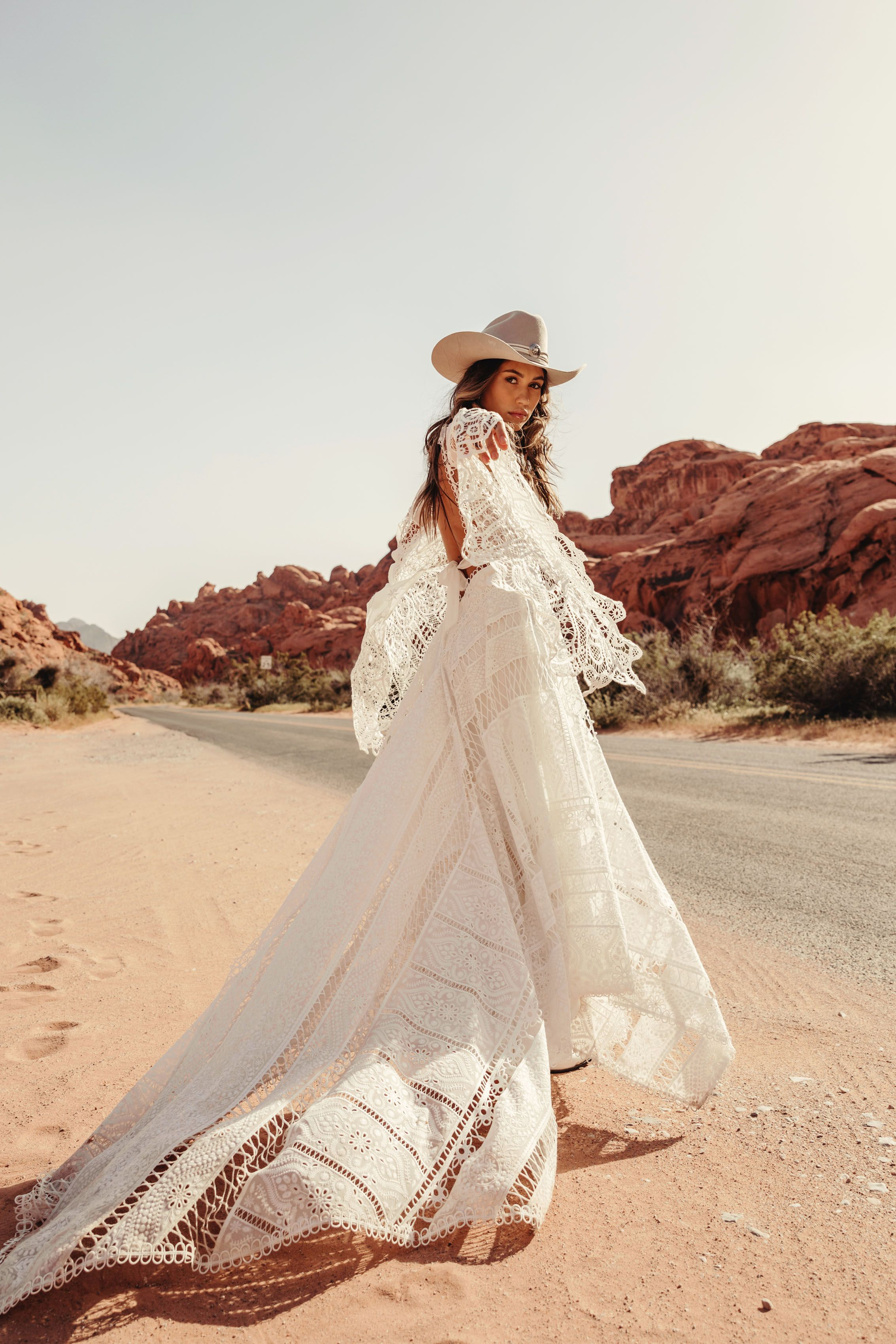 Harvest Moon Gown by rue de Seine  Moonrise Canyon collection