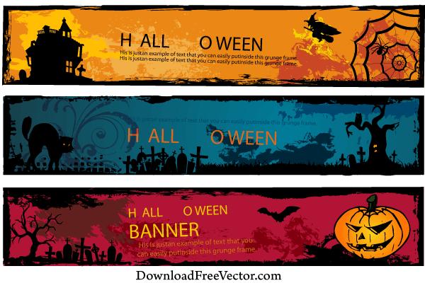 Free Halloween Banners Vector | Halloween Images | Pinterest ...