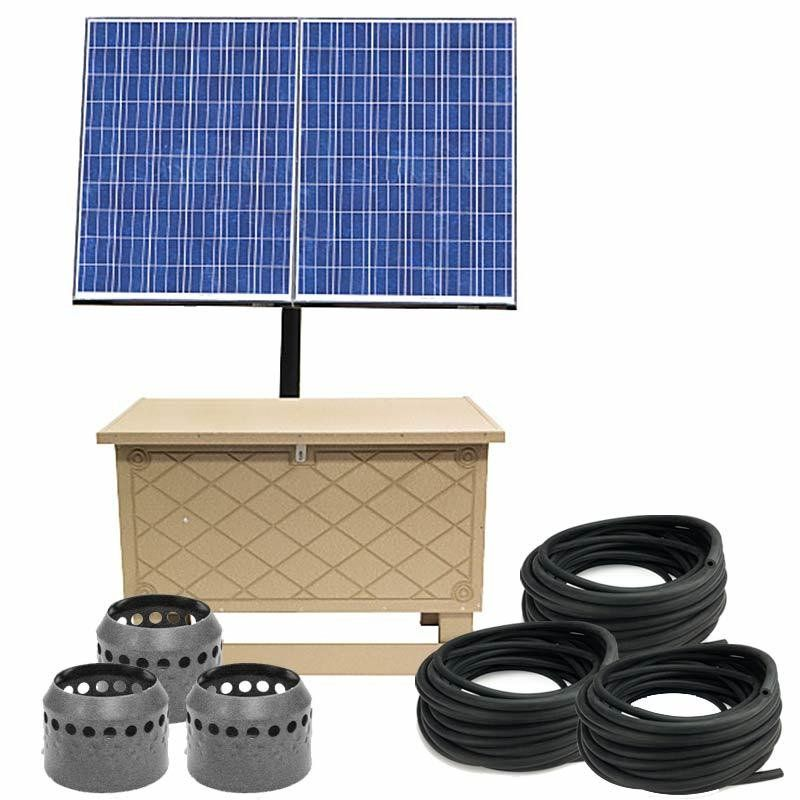 Solar Pond Aeration System With Battery Backup Up To 3 Acres Pond Aerator Aerator Solar Pond