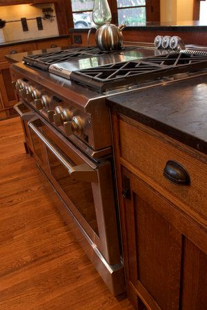 wonderful black kitchen cabinets dark granite | Honed brown granite countertops. Mission style hickory ...